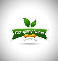 Leaf Label Logo Food vector