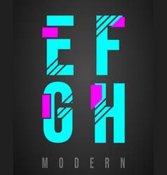 letter font modern design set letters e f g vector image