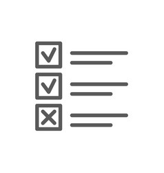 List of done and undone cases line icon vector