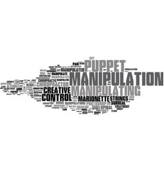 manipulating word cloud concept vector image