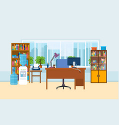 Office workplace interior of the room vector
