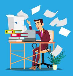 overloaded manager concept overloaded businessman vector image