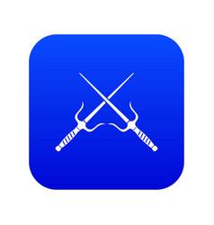 Pair of sai icon digital blue vector