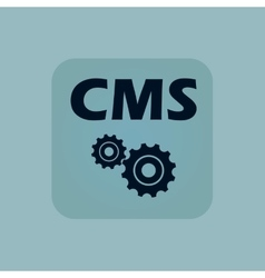 Pale blue CMS settings icon vector