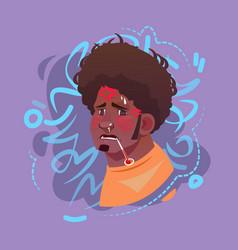 profile icon arab male emotion avatar muslim man vector image