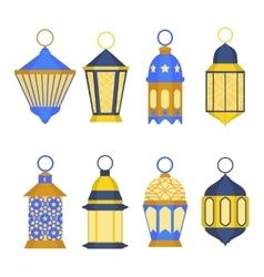 Ramadan Lanterns Set vector image