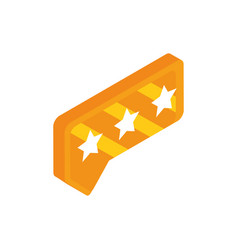 rating stars talk bubble social media isometric vector image