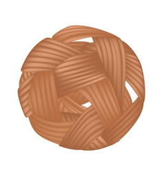 Rattan Ball or Takraw on White Background vector