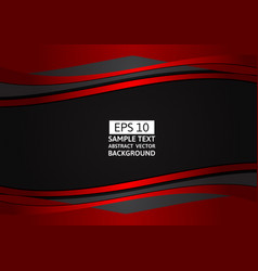 red and black wave abstract background with copy vector image