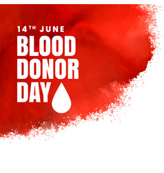 Red donor day concept background vector