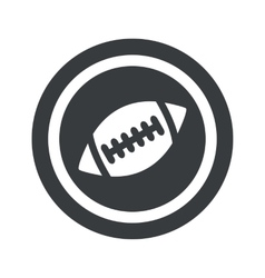 Round black rugby sign vector image