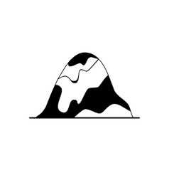 Rounded hill silhouette icon in flat style vector