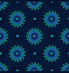 Seamless pattern with hand drawn circle and vector