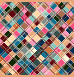 seamless tartan pattern checkered pastel pink vector image