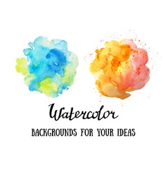 set abstract watercolor backgrounds watercolor vector image