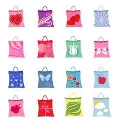 shopping bag set vector image