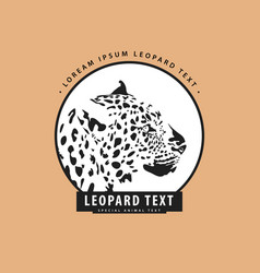 Stylish logo with leopard vector