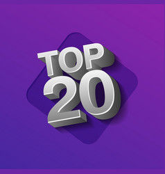 top twenty silver words vector image