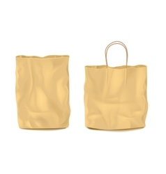Two Isolated Empty Paper Bags Set vector image