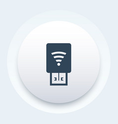 Usb modem with wi-fi icon vector