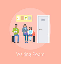 Waiting room medical clinic vector