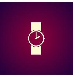 Wristwatch icon Flat design style vector image