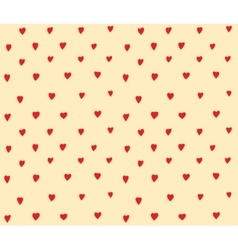 Hearts dots seamless pattern simple decoration vector image vector image