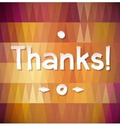 THANK YOU Lettering rewarding postcard vector image vector image