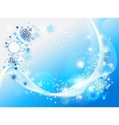 Blue abstract snow background vector image vector image