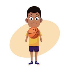 Boy sport basketball image vector