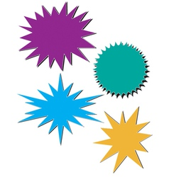 Bursts vector image vector image