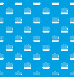 cage for birds pattern seamless blue vector image vector image