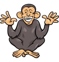 chimpanzee ape animal cartoon vector image vector image