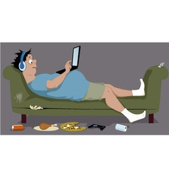 Couch potato vector image vector image