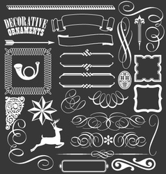 Decorative banners lines flourishes borders vector