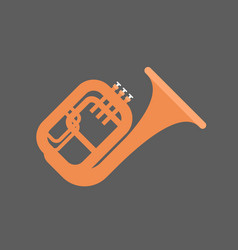 Horn icon wind music instrument concept vector