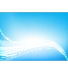 Abstract background blue wave curve and lighting vector image vector image