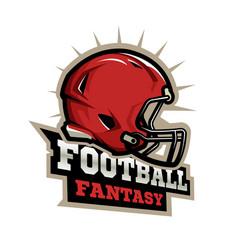 american football modern logo vector image vector image