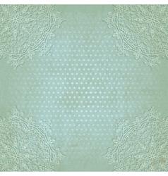 blue lace grunge polka dot pattern old background vector image vector image