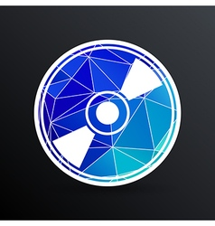 CD or DVD icon disc compact disk vector image