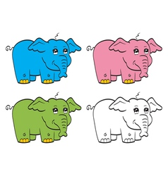 Cute cartoon elephant vector image vector image