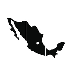 Map of Mexico icon simple style vector image