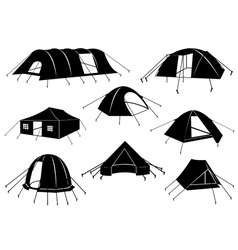Set Of Tents Isolated vector image