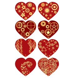 Set of valentines vector image vector image