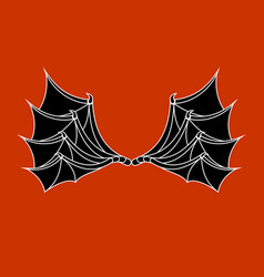 wings of bat and dragon demon wing on red vector image