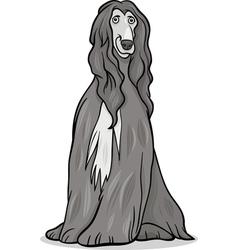 afghan hound dog cartoon vector image vector image