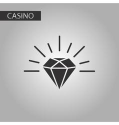 Black and white style diamond symbol vector