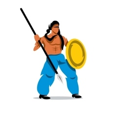 Persian Warrior Cartoon vector image vector image