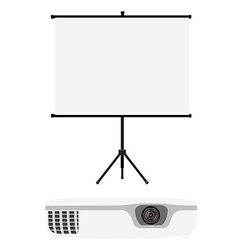 Projector and screen vector image vector image