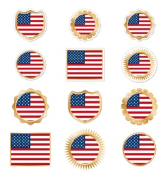 united states emblems vector image vector image